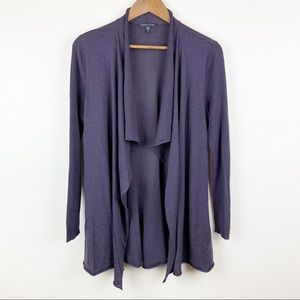 Eileen Fisher Cascading Front Merino Wool Cardigan